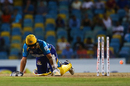Kane Williamson was stumped down the leg side, Barbados Tridents v St Lucia Stars, CPL 2017, Bridgetown, August 31, 2017