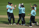 Marizanne Kapp produced a devastating opening burst, Surrey Stars v Western Storm, Kia Super League semi-final, Hove, September 1, 2017