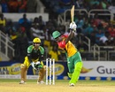 Chadwick Walton muscles one down the ground, Jamaica Tallawahs v Guyana Amazon Warriors, CPL 2017, Kingston, September 1, 2017
