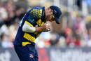 David Miller holds on to a catch, Birmingham v Glamorgan, NatWest T20 Blast, 1st semi-final, Birmingham, September 2, 2017