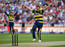 Craig Meschede appeals for a wicket, Birmingham v Glamorgan, NatWest T20 Blast, 1st semi-final, Birmingham, September 2, 2017