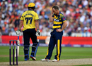 Graham Wagg shows his frustration, Birmingham v Glamorgan, NatWest T20 Blast, 1st semi-final, Birmingham, September 2, 2017