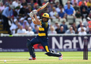 Jacques Rudolph slashes one through the off side, Birmingham v Glamorgan, NatWest T20 Blast, 1st semi-final, Birmingham, September 2, 2017