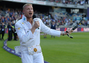 Andrew Flintoff takes part in a X-Factor style sign-off during NatWest Blast Finals day, Edgbaston, September 2, 2017