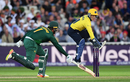 Tim Ambrose attempts to dismiss Brendan Taylor, Birmingham v Nottinghamshire,NatWest Blast final, Edgbaston, September 2, 2017
