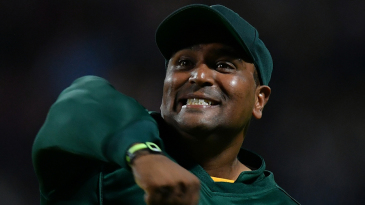 Samit Patel celebrates his second run out of Finals Day