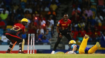 Eoin Morgan was one of three batsmen run out in Tridents' innings