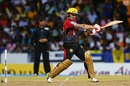 Brendon McCullum cuts the ball square, Barbados Tridents v Trinbago Knight Riders, CPL 2017, Bridgetown, September 2, 2017