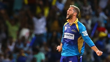 Wayne Parnell exults after picking up a wicket