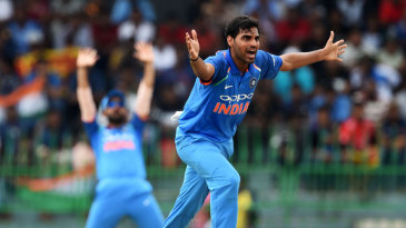 Bhuvneshwar Kumar appeals for lbw