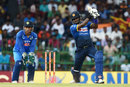 Angelo Mathews thumps one off the back foot, Sri Lanka v India, 5th ODI, Colombo, September 3, 2017