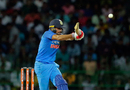 Manish Pandey swivels while pulling one away, Sri Lanka v India, 5th ODI, Colombo, September 3, 2017