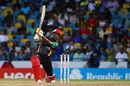 Evin Lewis creams one over the off side, Barbados Tridents v St Kitts and Nevis Patriots, CPL 2017, Bridgetown, September 3, 2017