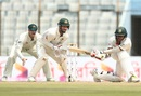 Soumya Sarkar goes low for a sweep, Bangladesh v Australia, 2nd Test, Chittagong, 1st day, September 4, 2017