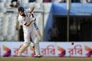 Nasir Hossain punches down the ground, Bangladesh v Australia, 2nd Test, Chittagong, 2nd day, September 5, 2017