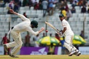 Nasir Hossain works one behind square, Bangladesh v Australia, 2nd Test, Chittagong, 2nd day, September 5, 2017