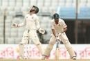 Nasir Hossain was caught by Matthew Wade for 45 , Bangladesh v Australia, 2nd Test, Chittagong, 2nd day, September 5, 2017