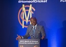 Brian Lara delivers the annual MCC Spirit of Cricket Cowdrey lecture at Lord's, London, September 4, 2017