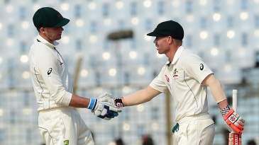 Peter Handscomb and David Warner put Bangladesh on the back foot