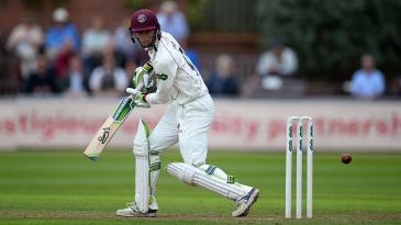 Eddie Byrom hung in for Somerset