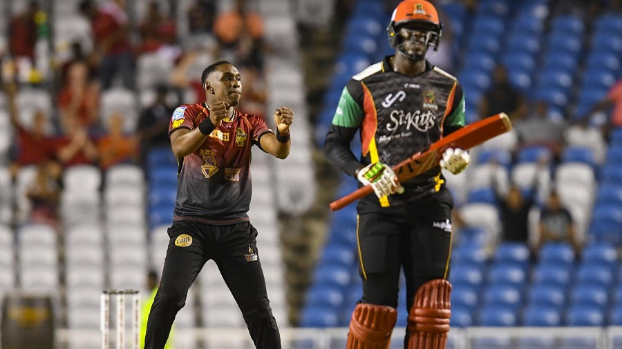 Dwayne Bravo dances after dismissing Carlos Brathwaite