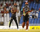 Dwayne Bravo dances after dismissing Carlos Brathwaite, St Kitts and Nevis Patriots v Trinbago Knight Riders, CPL 1st Qualifier, Trinidad, 5 September, 2017