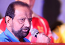Gundappa Viswanath speaks at the Karnataka Premier League launch in Mysore, September 3, 2017