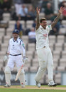 Jade Dernbach claimed vital early wickets, Hampshire v Surrey, Specsavers Championship, Division One, Ageas Bowl, 2nd day, September 6, 2017