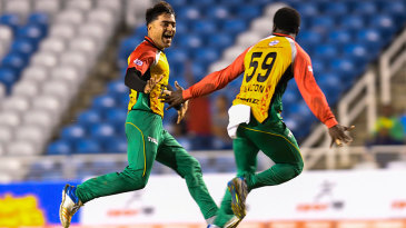 Rashid Khan created history by claiming CPL's first ever hat-trick