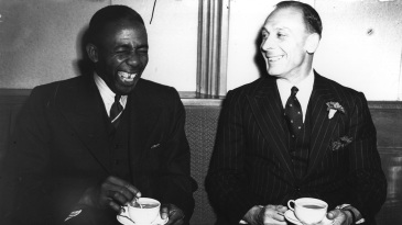 Learie Constantine and Jack Hobbs share a laugh