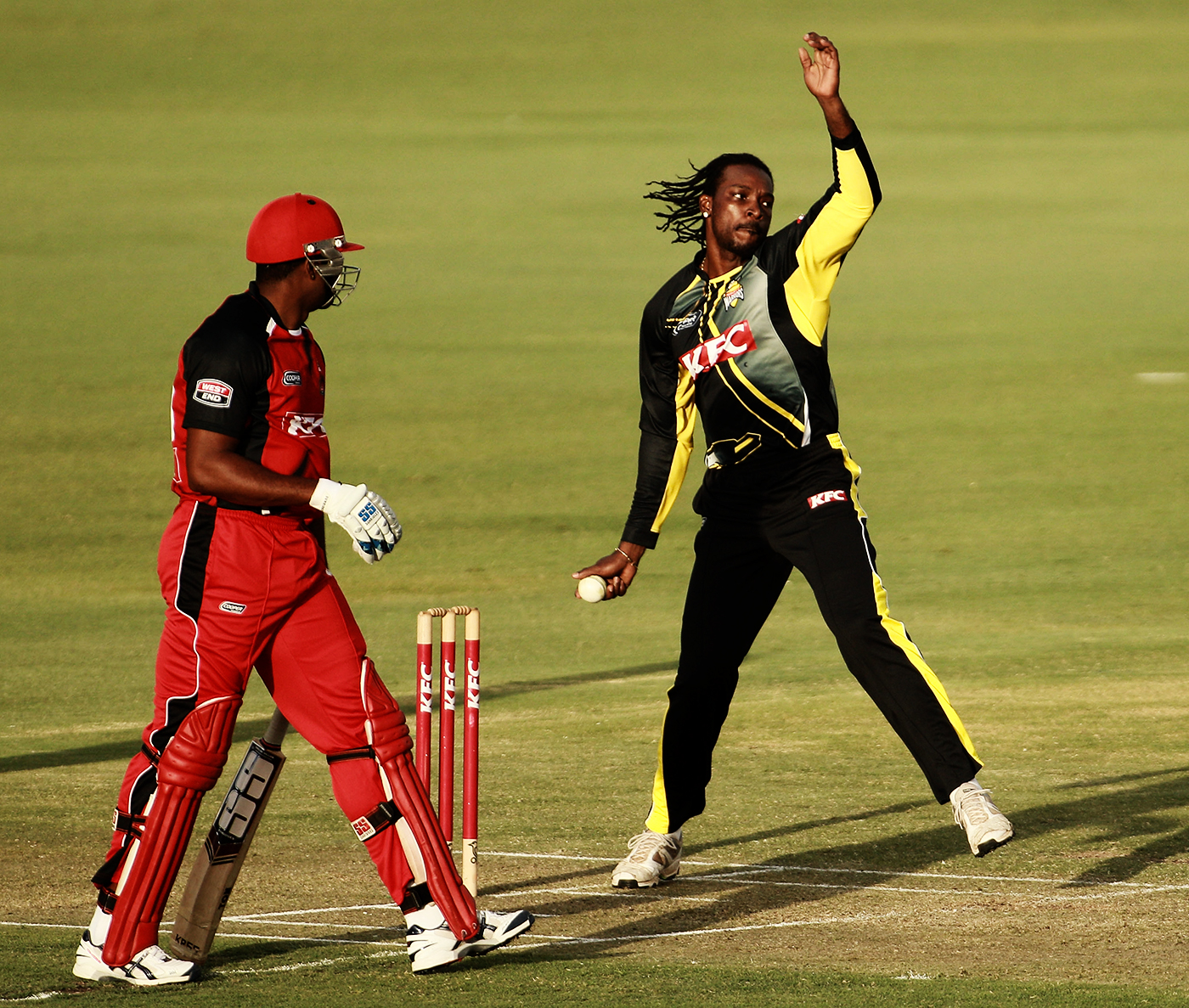 The vast T20 experience that players like Kieron Pollard (left) and Chris Gayle bring to the West Indies side from their time in leagues across the world is unmatched in any other national team