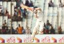 David Warner takes his eyes off a hook shot, Bangladesh v Australia, 2nd Test, Chittagong, 4th day, September 7, 2017