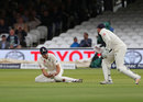 Alastair Cook spilled an early chance offered by Kraigg Brathwaite, England v West Indies, 3rd Investec Test, Lord's, 1st day, September 7, 2017