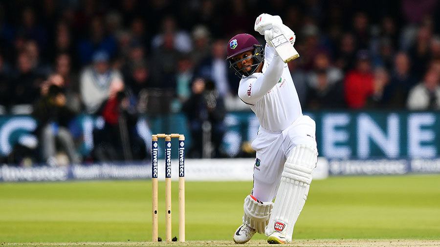 Shai Hope played some confident drives