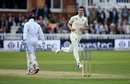 Toby Roland-Jones bowled Jermaine Blackwood, England v West Indies, 3rd Investec Test, Lord's, 1st day, September 7, 2017