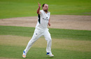 Joe Leach continued a prolific season with five wickets, Nottinghamshire v Worcestershire, Specsavers County Championship, Division Two, Trent Bridge, September 7, 2017