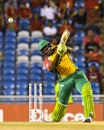 Roshan Primus plays a lofted shot, Guyana Amazon Warriors v Trinbago Knight Riders, CPL 2017, 2nd Qualifier, Trinidad, September 7, 2017