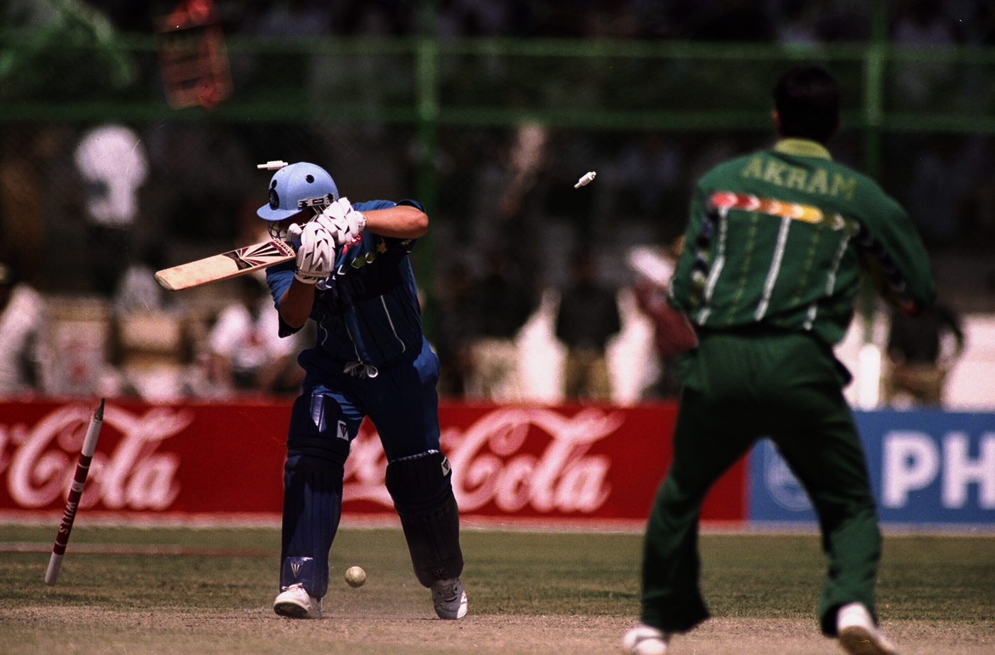 And how about his atrocious treatment of cricket stumps?