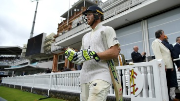 Ben Stokes walks out to begin the second day