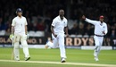 Kemar Roach celebrates after dismissing Dawid Malan, England v West Indies, 3rd Investec Test, Lord's, 2nd day, September 8, 2017