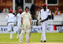Ben Stokes and Jason Holder share a joke during a hard-fought passage of play, England v West Indies, 3rd Investec Test, Lord's, 2nd day, September 8, 2017