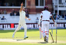 No. 500: James Anderson castled Kraigg Brathwaite to reach the milestone, England v West Indies, 3rd Investec Test, Lord's, 2nd day, September 8, 2017