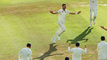 James Anderson takes the acclaim after his 500th Test wicket
