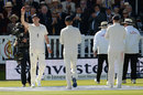 James Anderson leads England off after his career-best 7 for 42, England v West Indies, 3rd Investec Test, Lord's, 3rd day, September 9, 2017