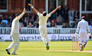 James Anderson celebrates his fifth wicket, England v West Indies, 3rd Investec Test, Lord's, 3rd day, September 9, 2017