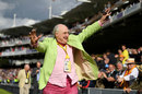 Henry Blofeld took a lap of honour after his final commentary stint, England v West Indies, 3rd Investec Test, Lord's, 3rd day, September 9, 2017
