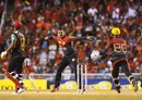 Sunil Narine celebrates after pinning Evin Lewis lbw, Trinbago Knight Riders v St Kitts and Nevis Patriots, CPL 2017, final, Tarouba, September 9, 2017