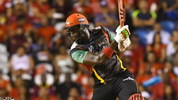Carlos Brathwaite crunches a four through cover