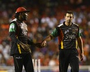 Chris Gayle handed Ben Hilfenhaus duties for the 19th over, Trinbago Knight Riders v St Kitts and Nevis Patriots, CPL 2017, final, Tarouba, September 9, 2017