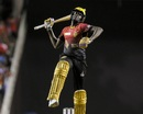 Kevon Cooper celebrates after Knight Riders won the final, Trinbago Knight Riders v St Kitts and Nevis Patriots, CPL 2017, final, Tarouba, September 9, 2017